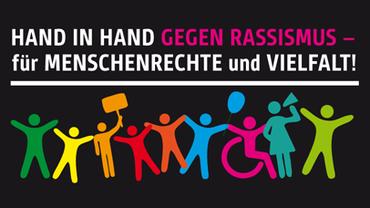 """Mobilisierung für die bundesweite Menschenkette """"Hand in Hand gegen Rassismus - für Menschenrechte und Vielfalt"""""""