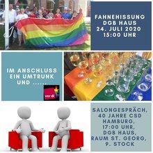 Veranstaltungen von ver.di Hamburg Regenbogen zum CSD 2020 in Hamburg.