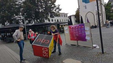 Aktion des Bezirksfrauenrats Mittelhessen zur Bundestagswahl